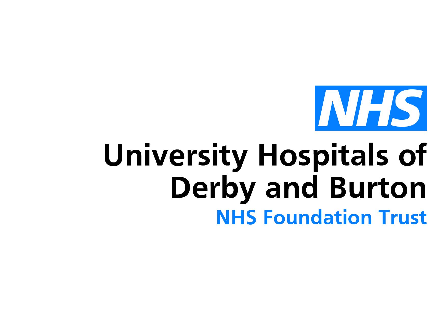 University Hospitals of Derby and Burton NHS Logo