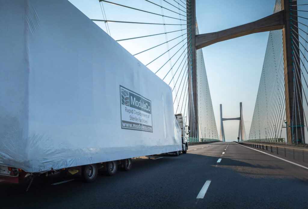 ModuleCo Modular Healthcare Facility Off-Site Delivery Severn Bridge Image